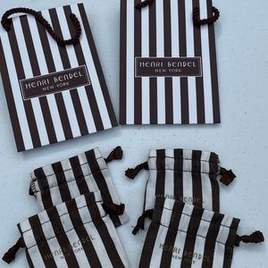 Henri Bendel gift bags and jewelry bag pouch